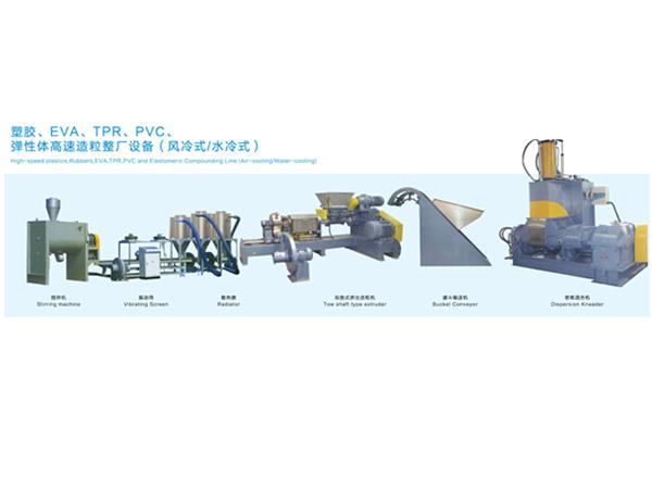 电缆料密炼挤出造粒机组XPE、TPR、EVA、PVC
